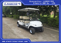 Safety Electric Golf Buggy , Four Seater Electric Car With Free Maintain Acid Battery