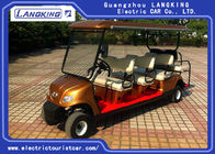 Golden Colour  Electric Golf Carts 8 Seater With Curtis Controller For Hotel Reasort