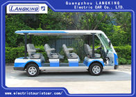 High Impact Fiber Glass Body Electric Shuttle Car , 11 Seats Electric Passenger Vehicle With Sun
