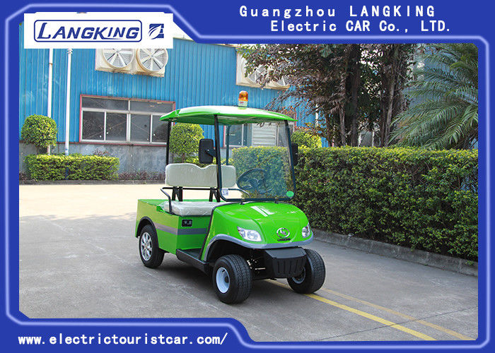 High Efficiency 2 Seats Electric Towing Tractor , 2 Ton Electric Golf Carts