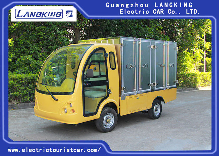 2 Passengers Golf Food Cart  Loading 900kgs / Electric Freight Car With Door